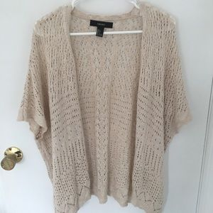 Crochet Knit Short Sleeved Cardigan